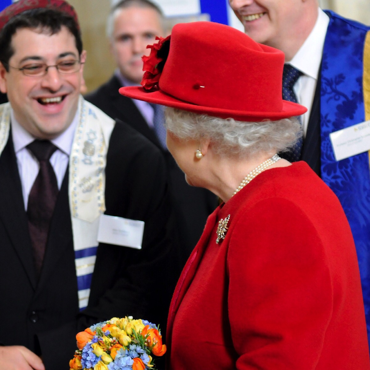 Alexander Goldberg with Queen Elizabeth II